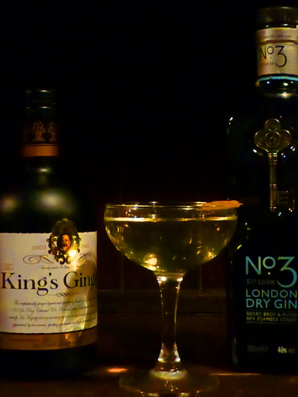 No 3 and Kings Ginger martini