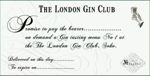 London Gin Club Gift Voucher