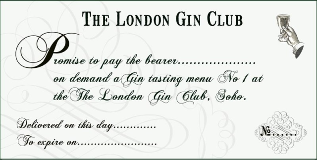 London Gin Club Gift Voucher