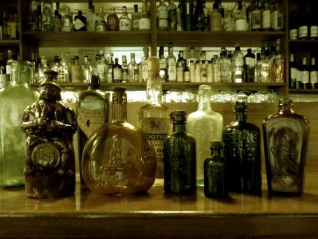 Vintage gin bottles