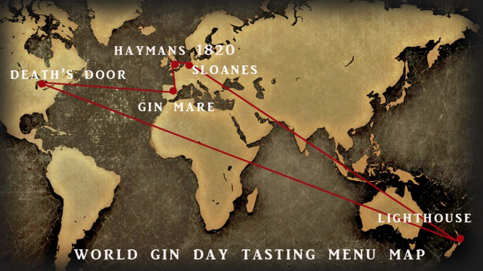 world gin day map