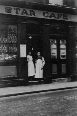 Pops outside the Star in the 1930s