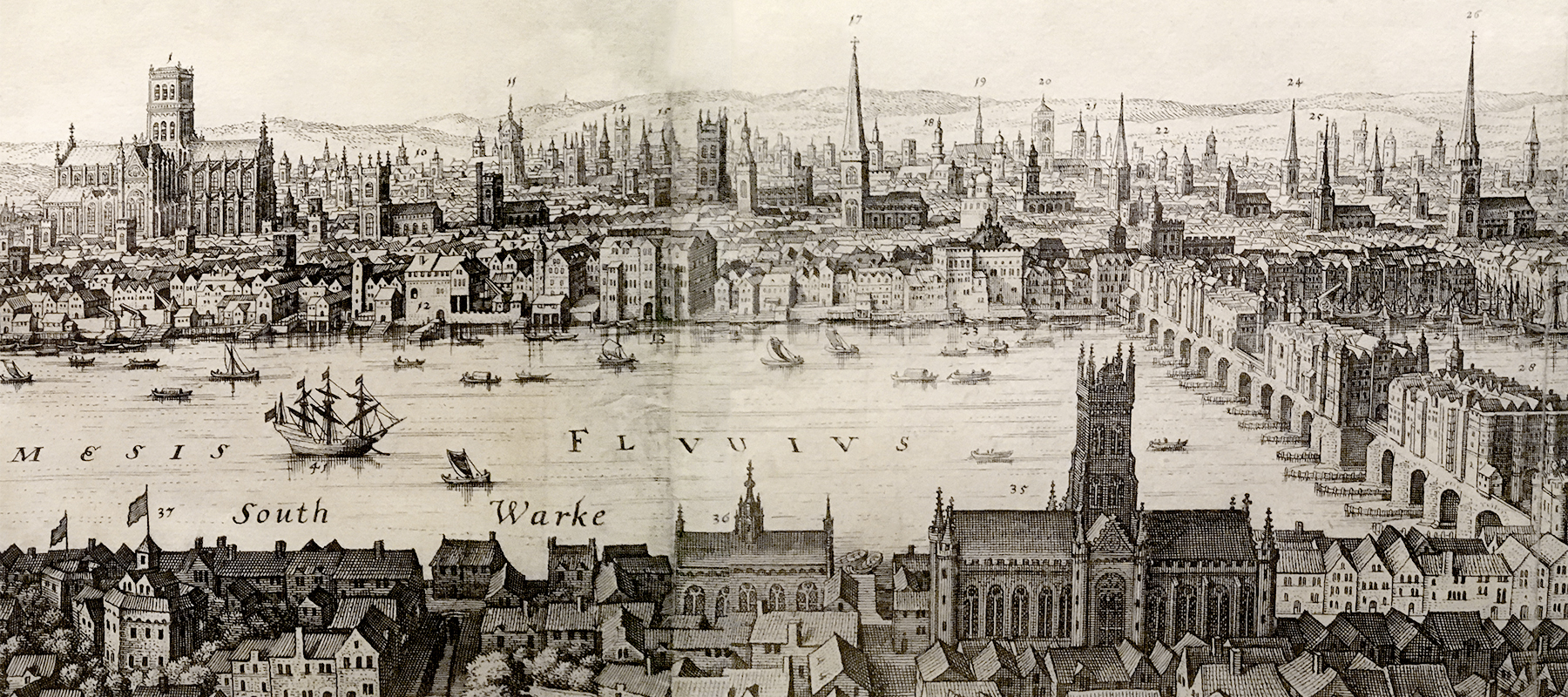 elizabethan london panorama